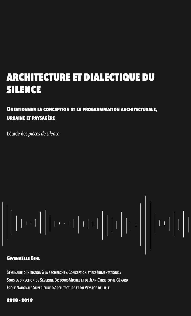 Prix du mémoire d'architecture 2019