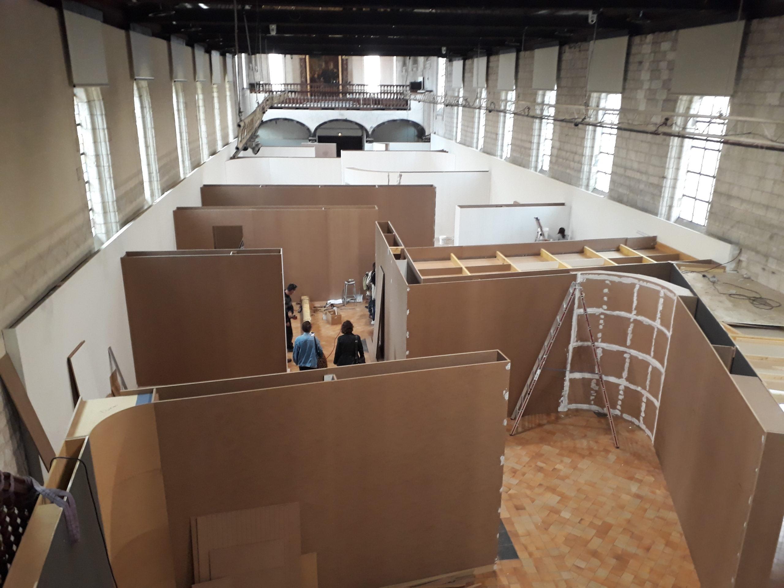 Du projet confiné à la réalité du chantier : la scénographie de la prochaine exposition du Musée de l'Hospice Comtesse