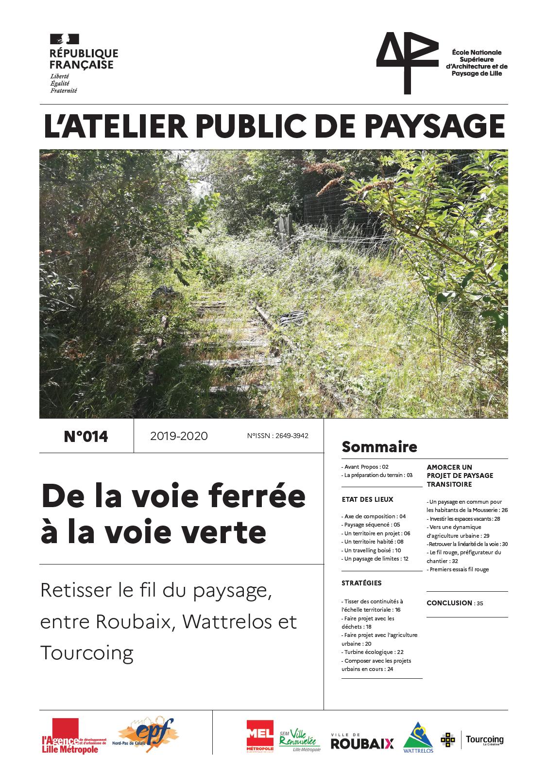 Parution du journal de l'atelier public de paysage n°14 !
