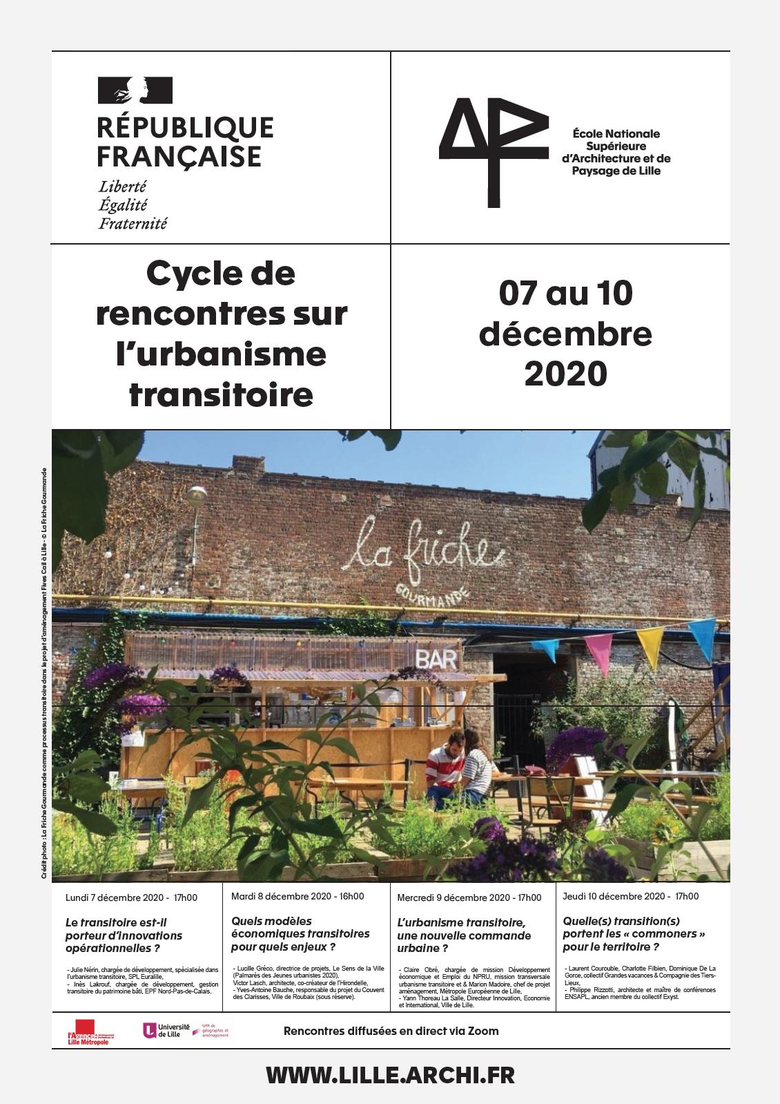 Cycle de rencontres sur l'urbanisme transitoire