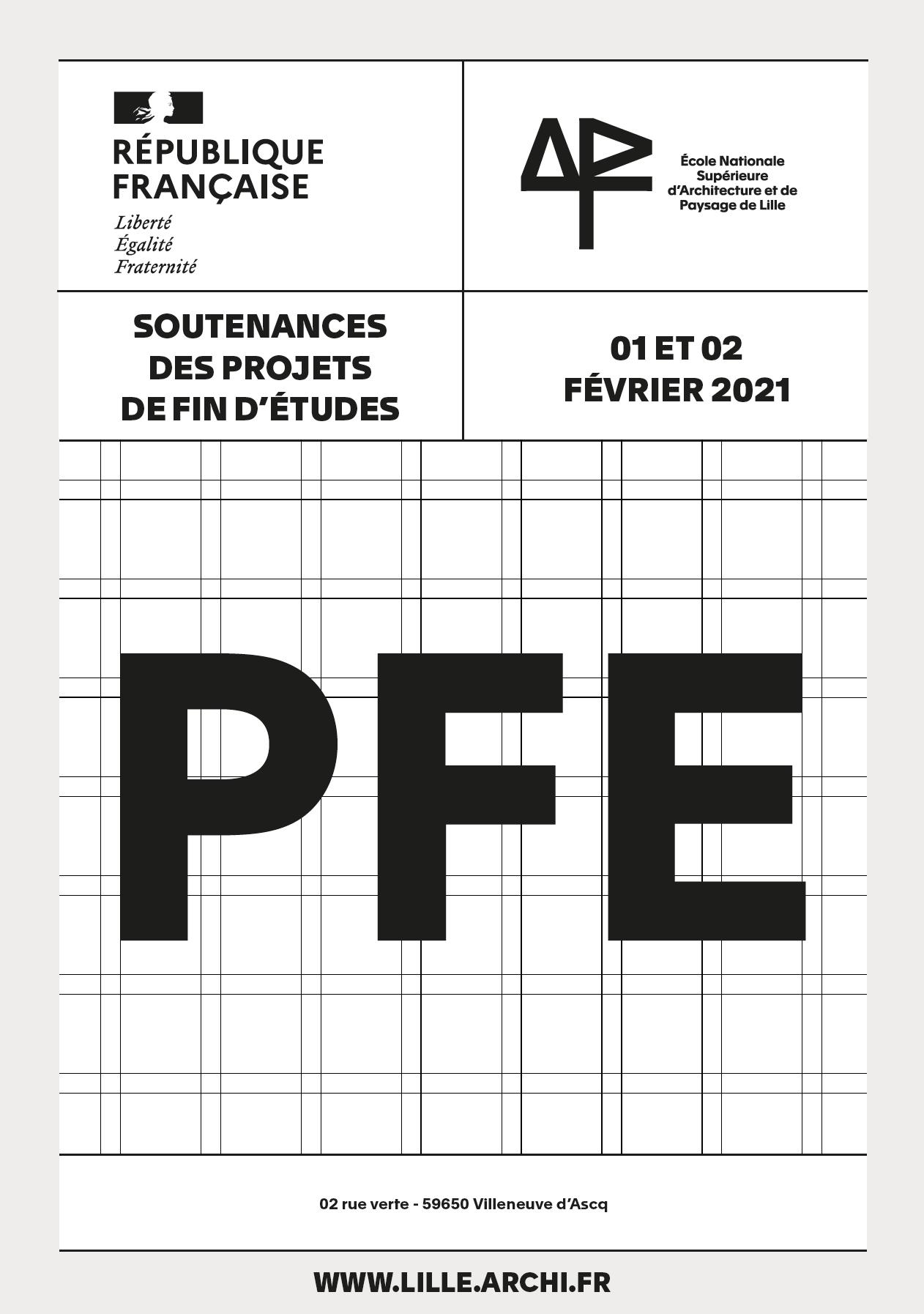 Résultats des soutenances des PFE - 01 et 02 Février 2021