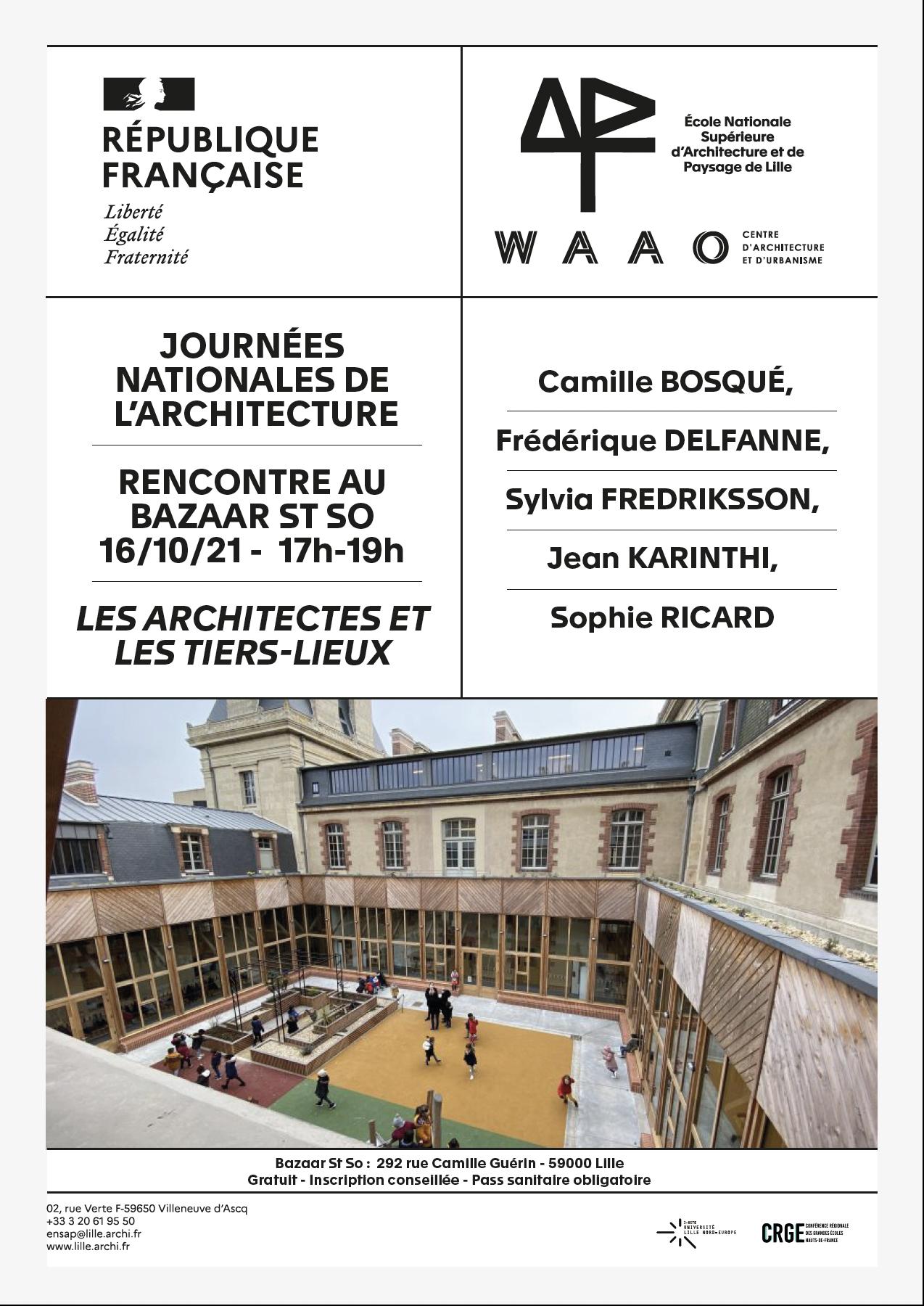 Journées Nationales de l'Architecture : rencontre avec Sophie Ricard et Sylvia Fredriksson